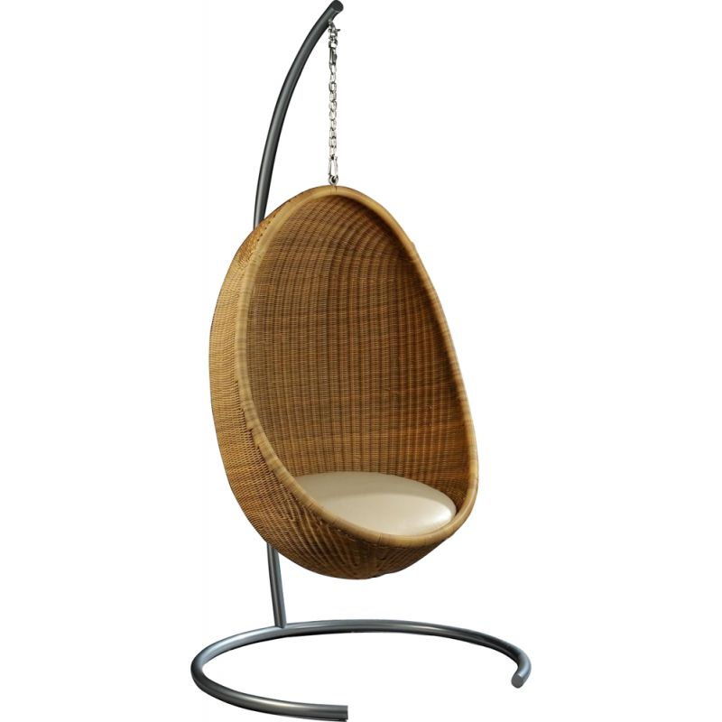 Vintage rattan Egg chair by Nanna Ditzel