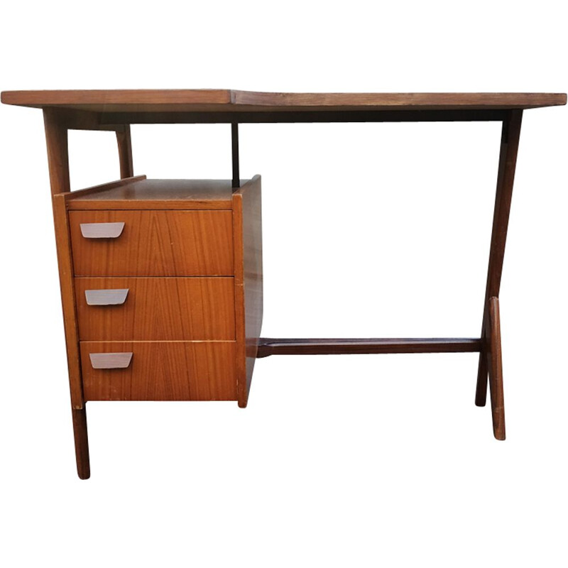 Vintage free form desk in wood