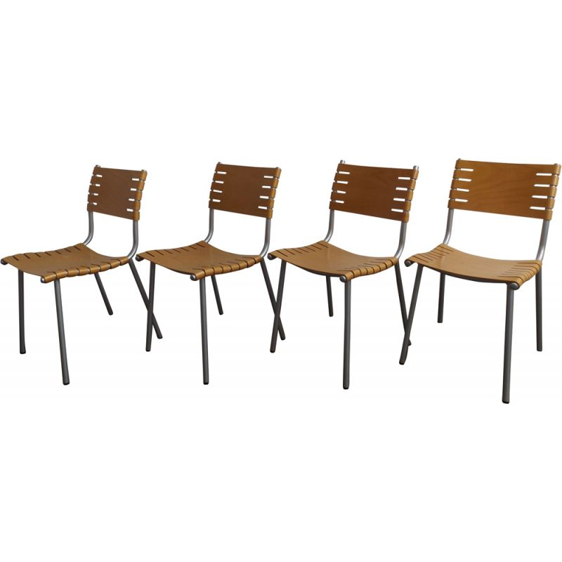 Set of 4 beige dining chairs by Ruud Jan Kokke