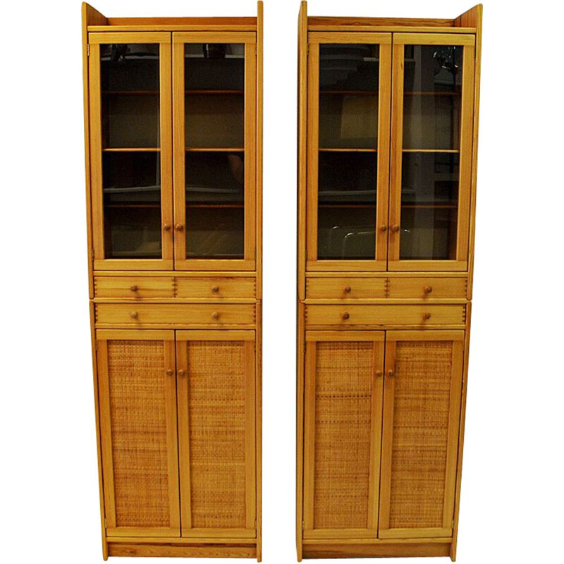 "Pine cupboards ""Furubo"" by Yngve Ekström for Swedese 1970s - Sweden"