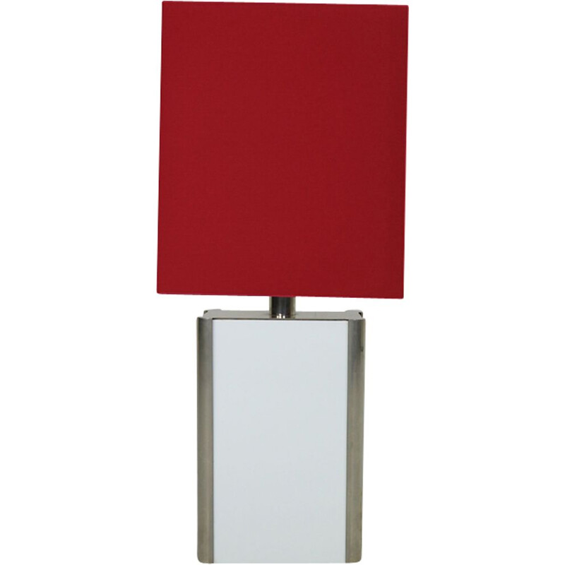 Vintage red floor lamp in metal
