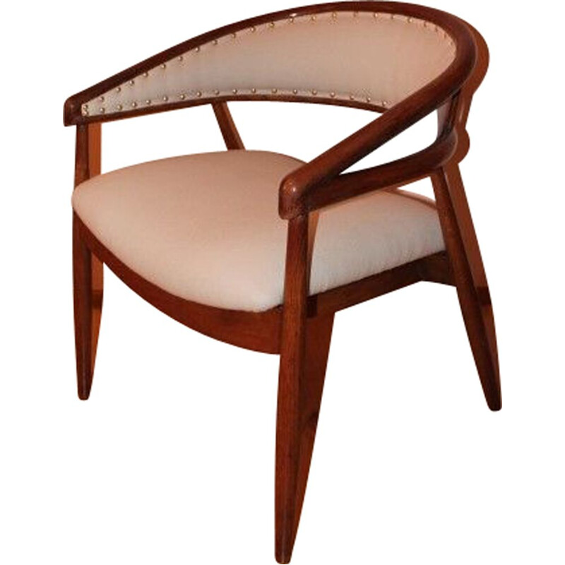 Pair of vintage B3300 chairs in beech and fabric