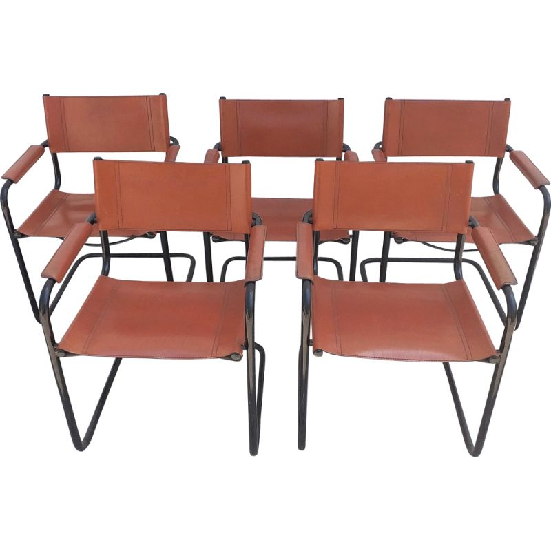 Set of 5 vintage Cantilever chairs by Mart Stam
