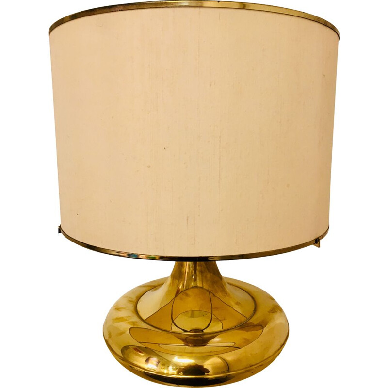 Vintage table lamp in gilded brass