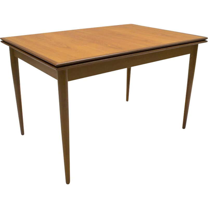 Scandinavian extendable dining table in teak