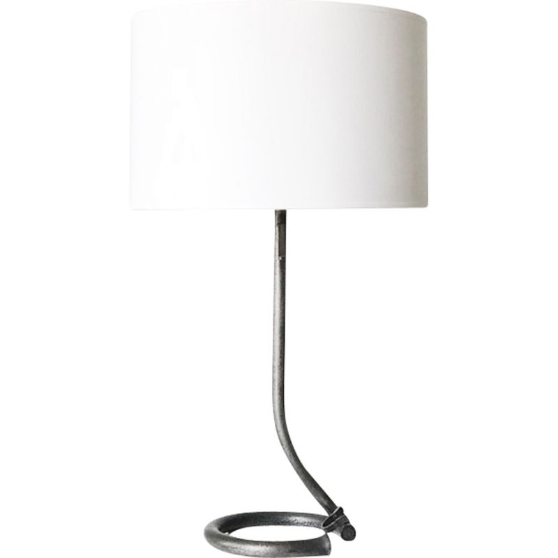 Vintage wrought iron table lamp,1950