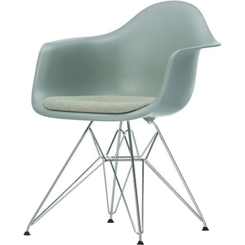 """""""Plastic Armchair DAR"""" with seat pad by Charles and Ray Eames for VITRA"""