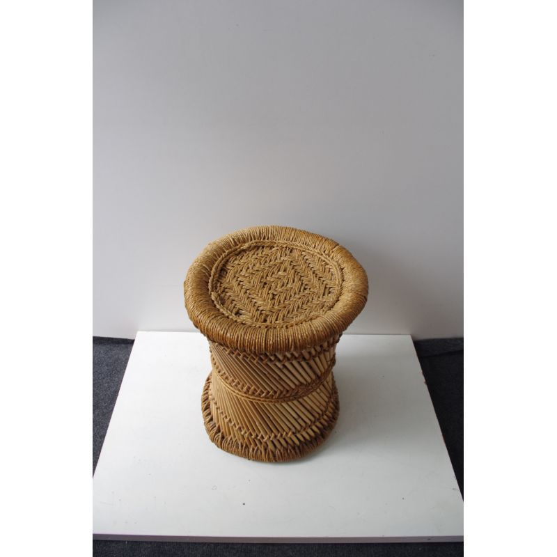 Tremendous Vintage Garden Stool In Wicker Gmtry Best Dining Table And Chair Ideas Images Gmtryco