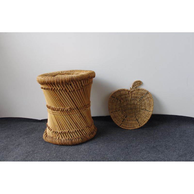 Remarkable Vintage Garden Stool In Wicker Gmtry Best Dining Table And Chair Ideas Images Gmtryco