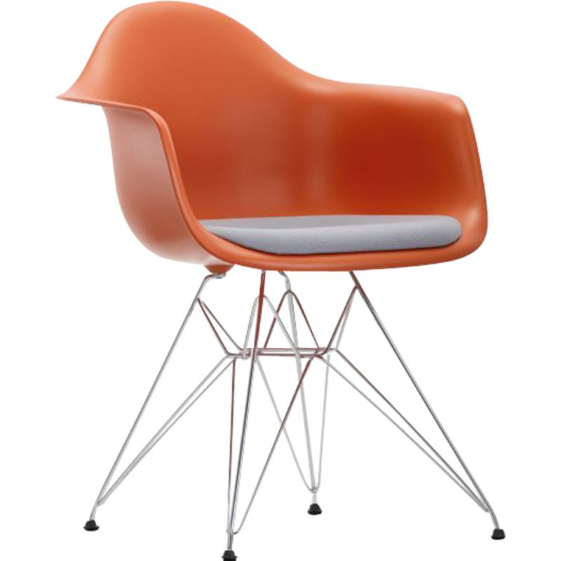 """Plastic Armchair DAR"" with seat pad by Charles and Ray Eames for VITRA"