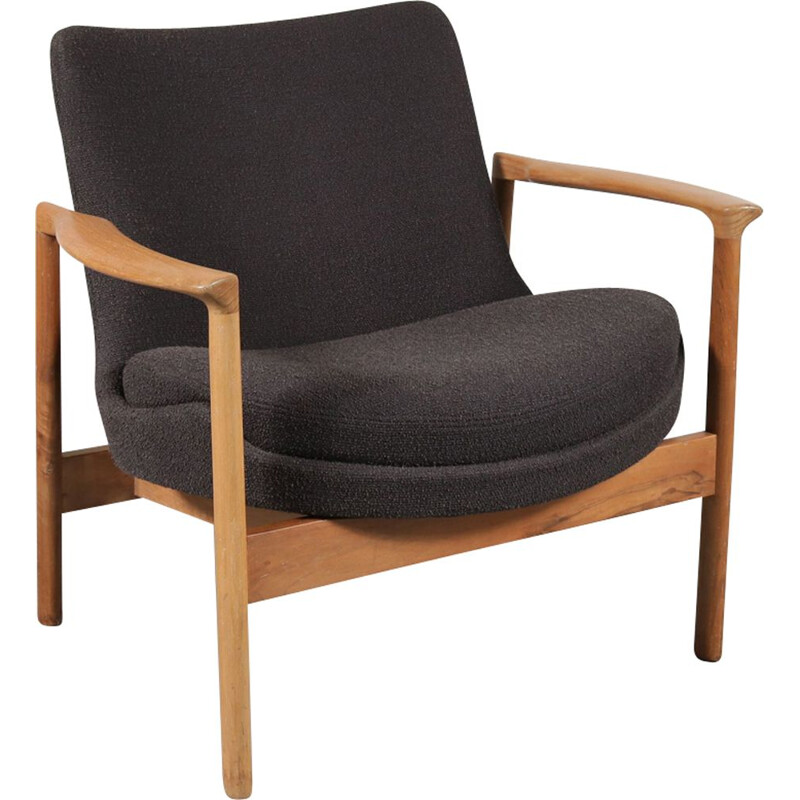Vintage lounge chair by Ib Kofod Larsen for Fröscher KG Germany 1960s