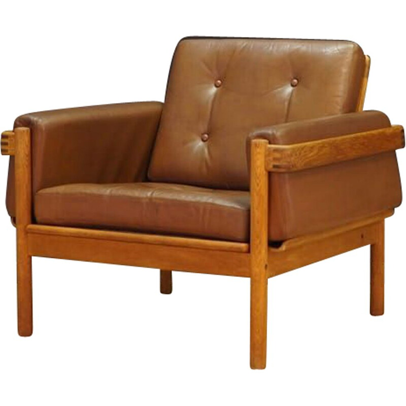 Vintage armchair in leather H W Klein for NA Jørgensens Møbelfabrik 1960-70s