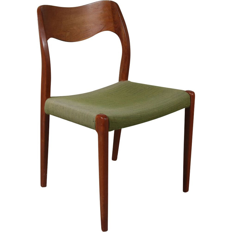 Vintage dining chair in teak by Moller Denmark 1950s