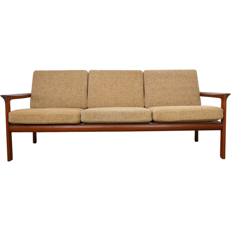 Vintage sofa in teak by Sven Ellekaer for Komfort, Denmark, 1970s