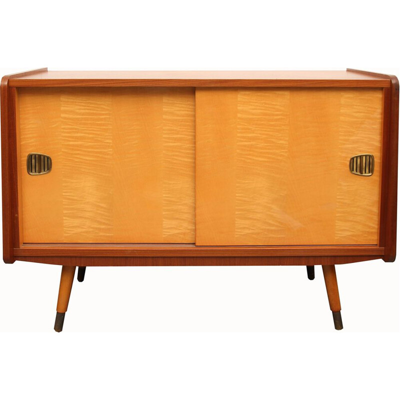 Vintage sideboard in maple and walnut