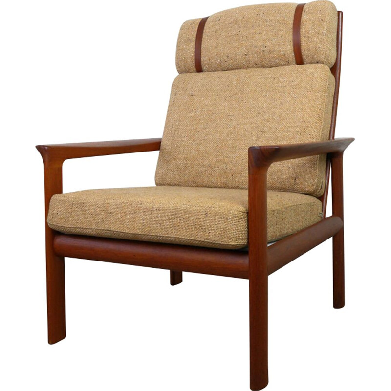 Vintage armchair in teak by Sven Ellekaer for Komfort, Denmark, 1970s