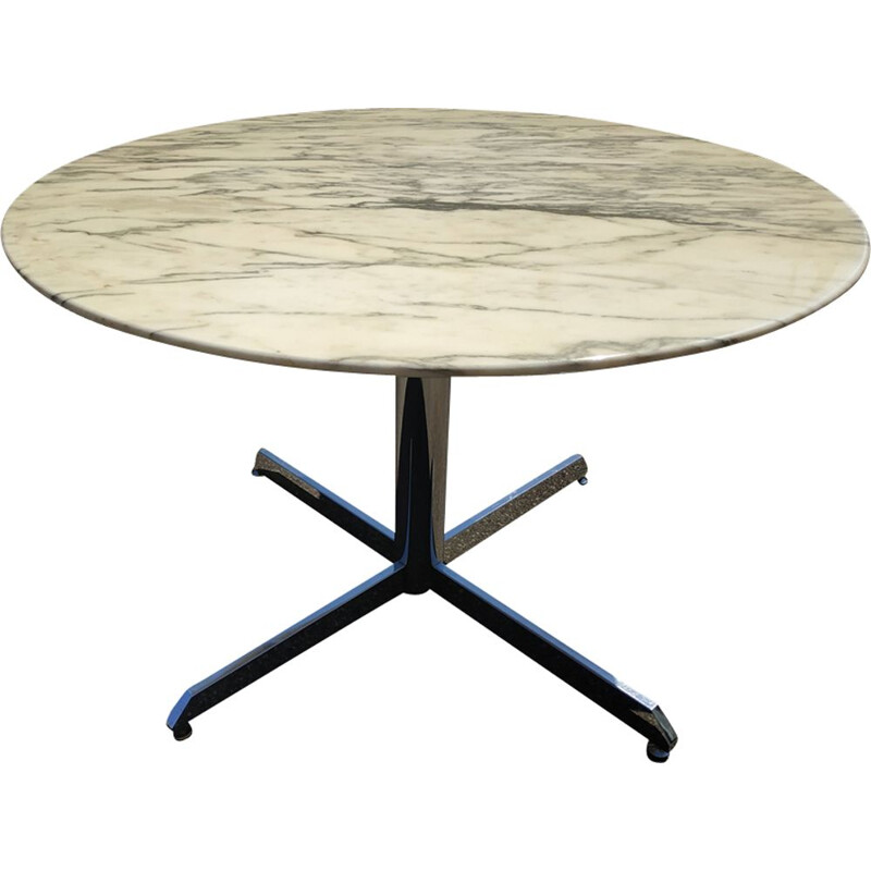Vintage marble round table by Florence Knoll