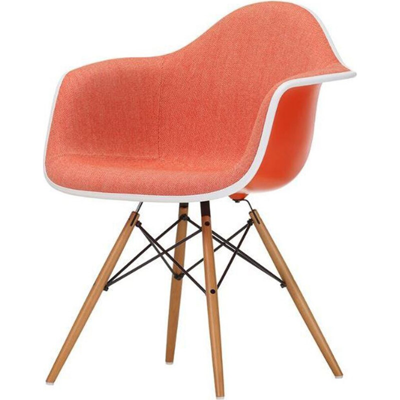"""Plastic Armchair DAW"" with full upholstery by Charles and Ray Eames for VITRA"