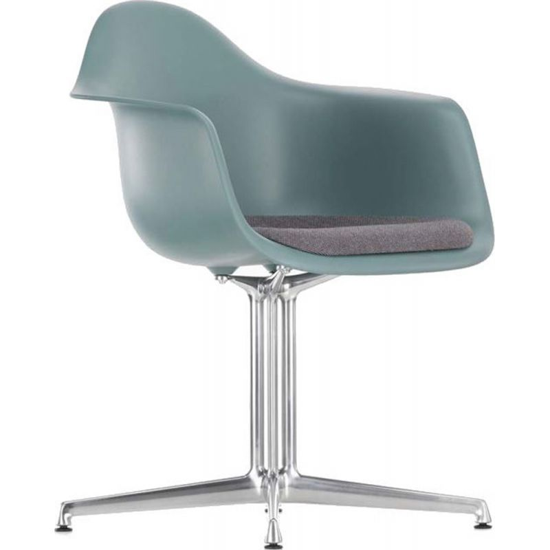 """""""Plastic Armchair DAL"""" with seat upholstery by Charles and Ray Eames for VITRA"""