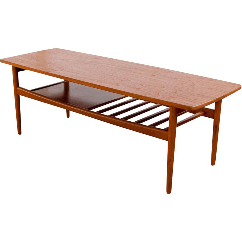 Large Scandinavian vintage coffee table, 1960