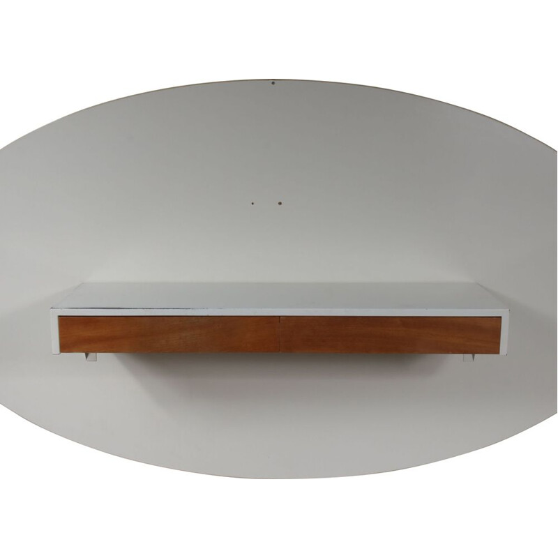 Vintage wall console in metal by Martin Visser for Spectrum, the Netherlands 1950s