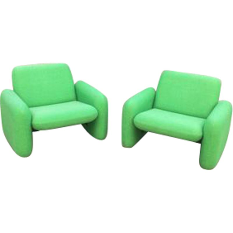 Pair of vintage armchairs by Ray Wilkes for Herman Miller,1980