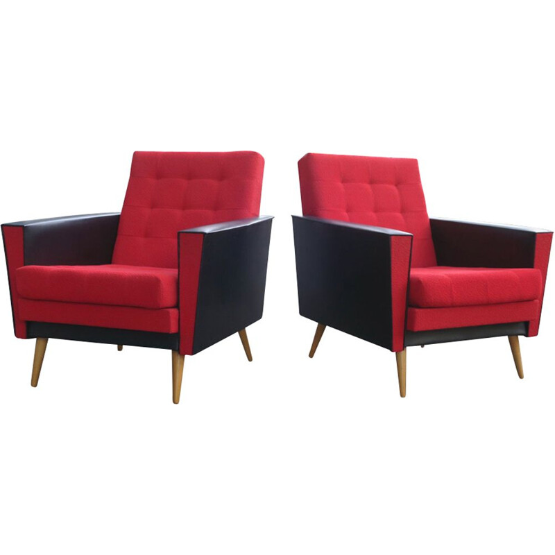 Pair of vintage lounge chairs 1950s
