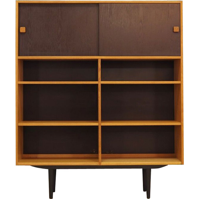 Vintage ash veneer Bookcase for Domino 1960