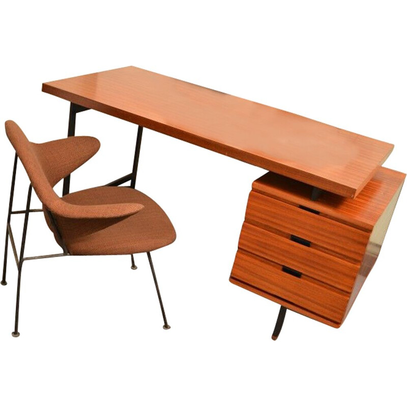 Vintage desk by Pierre Guariche Minvielle 1955