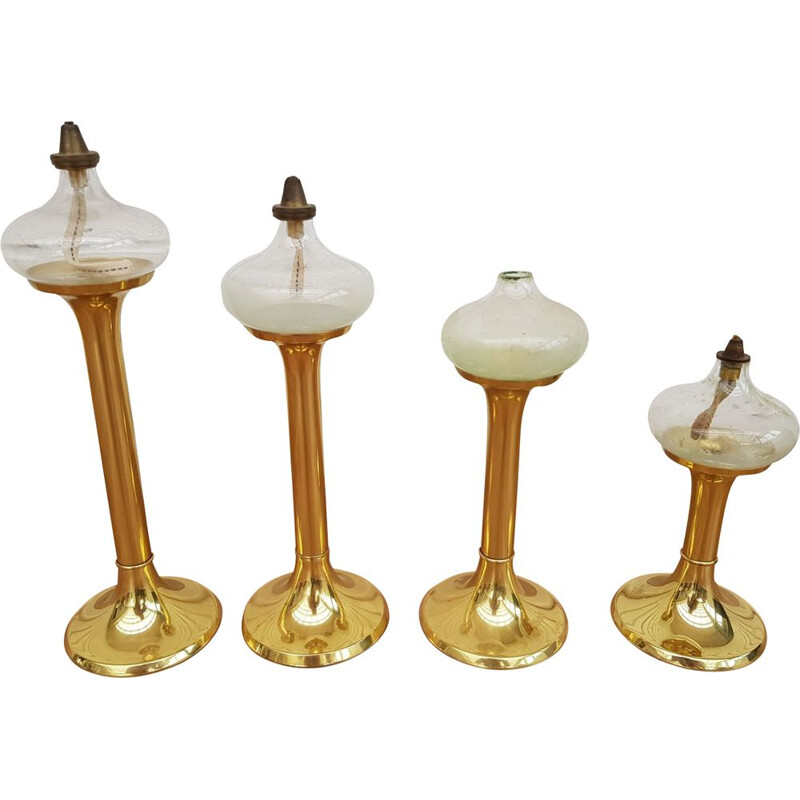 Vintage oil lamps by G.V. Harnish 1960s
