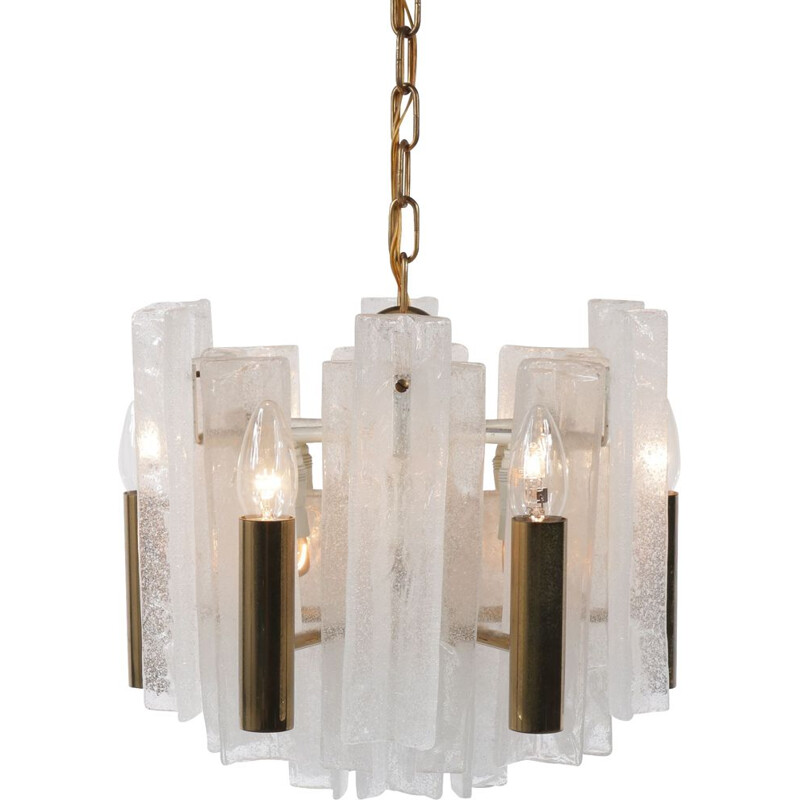 Vintage glass pendant lamp  by J.T. Kalmar for Mazzega 1960