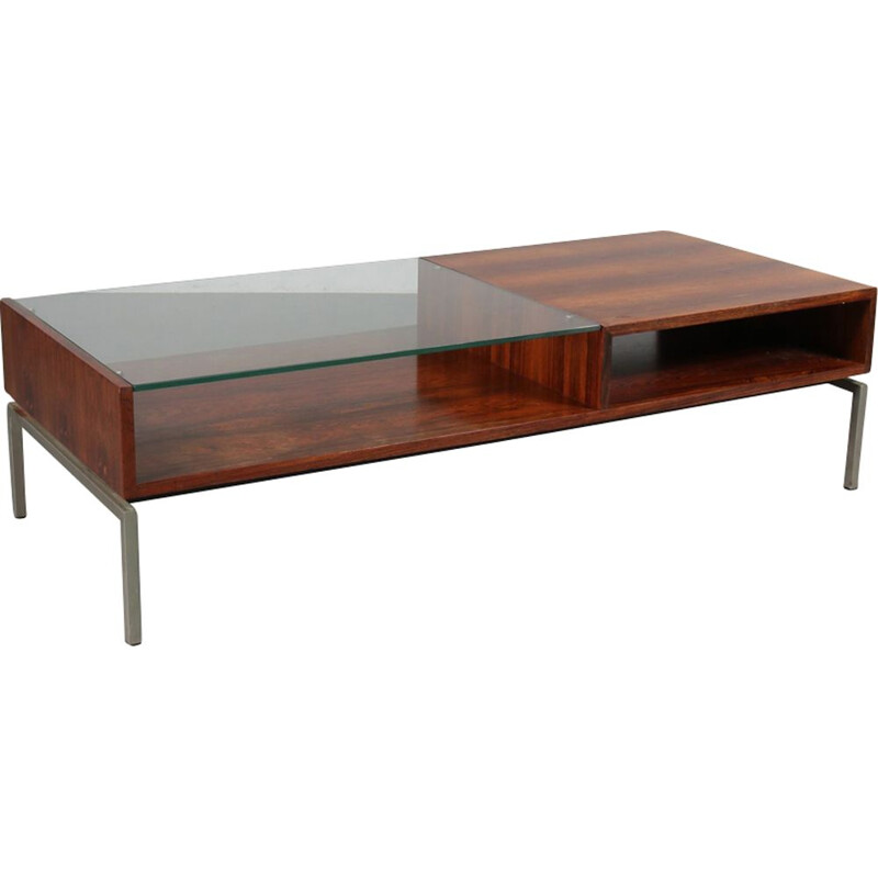 Vintage coffee table in rosewood by Gelderland in the Netherlands 1960s