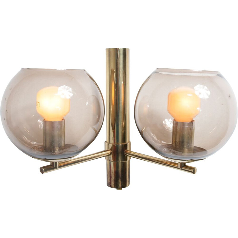 Vintage wall lamp in brass by Hans Agne Jakobsson for Markaryd in Sweden 1960s