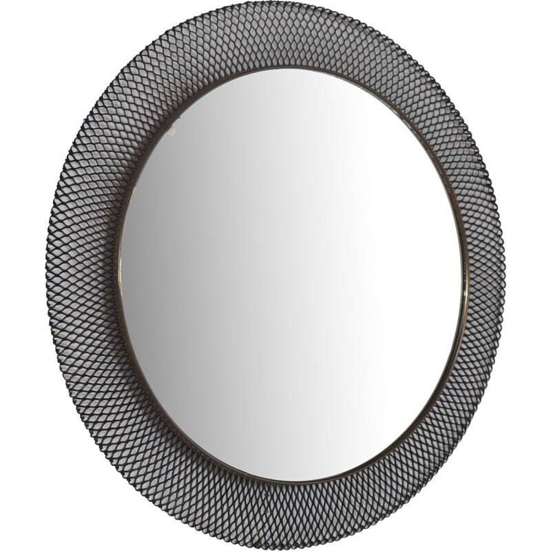 Vintage perforated mirror, France,1950s