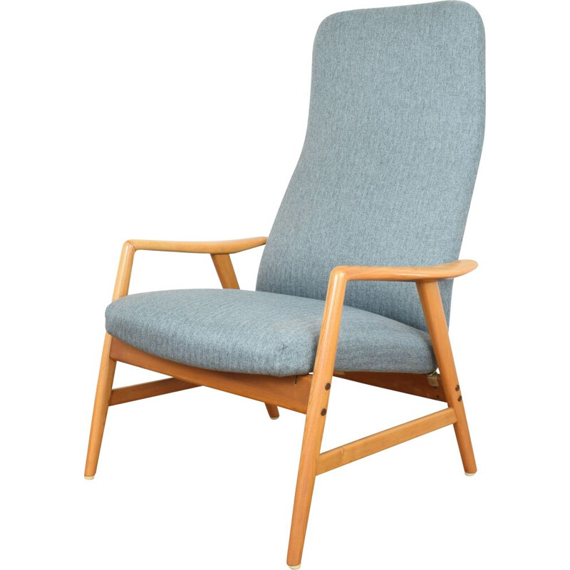 Vintage Danish Kontur lounge chair by Alf Svensson for Fritz Hansen