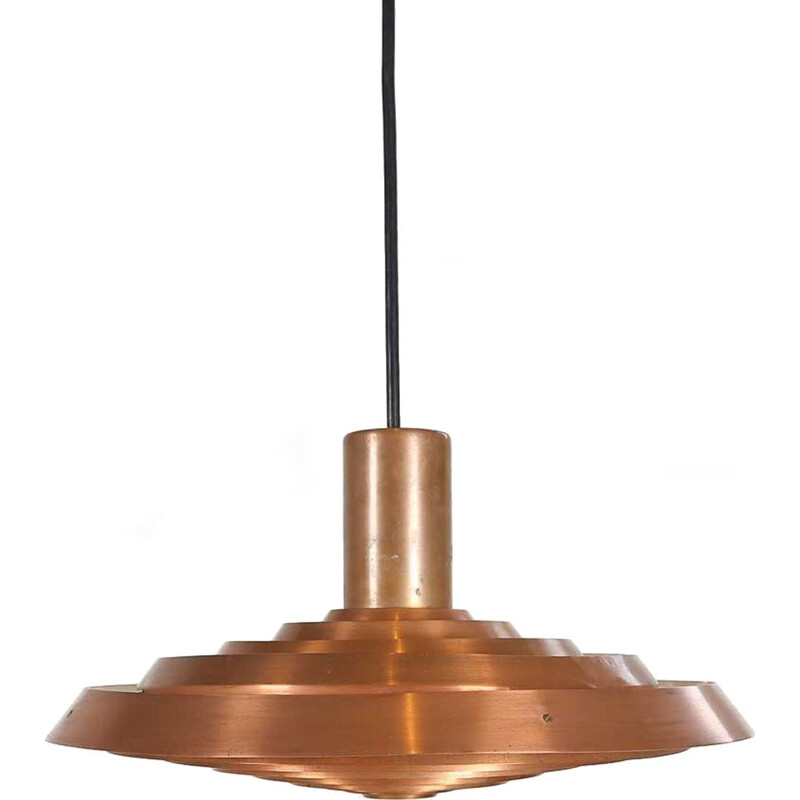 Vintage copper pendant light by Poul Henningsen for Louis Poulsen