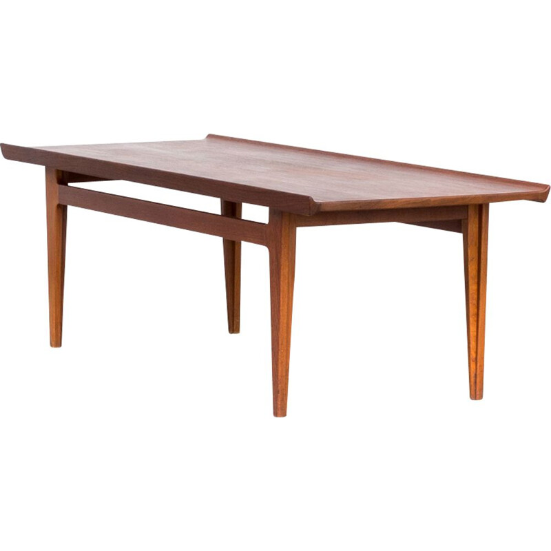 Vintage coffee table in teak Finn Juhl FD532 for France & Son 1950s