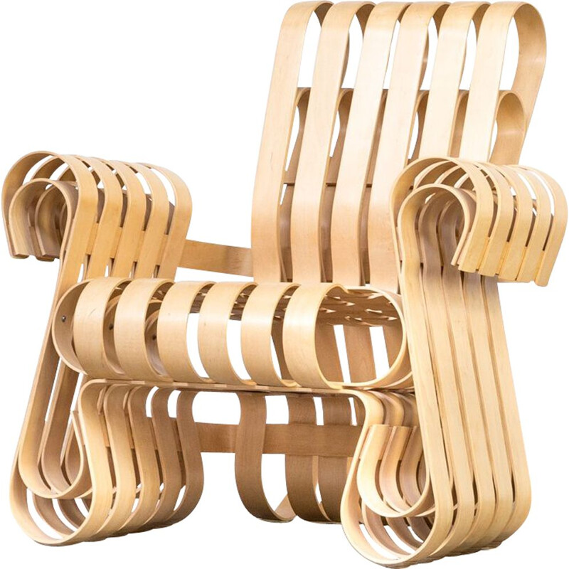 Vintage lounge chair Power Play by Frank O. Gehry for Knoll International 1990s