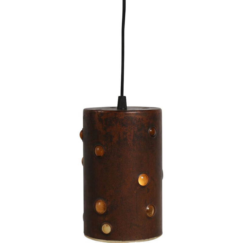 Vintage pendant light in copper by nanny Still for Raak,Netherlands,1960