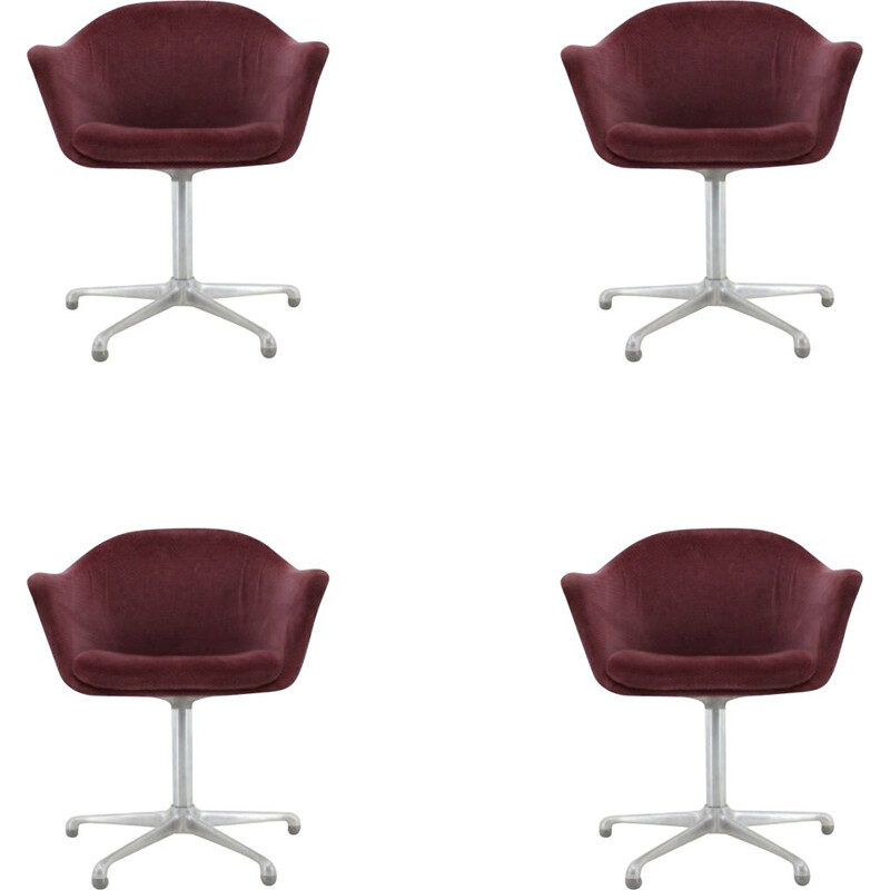 Set of 4 vintage swivel armchairs by Konrad Schàfer, 1960