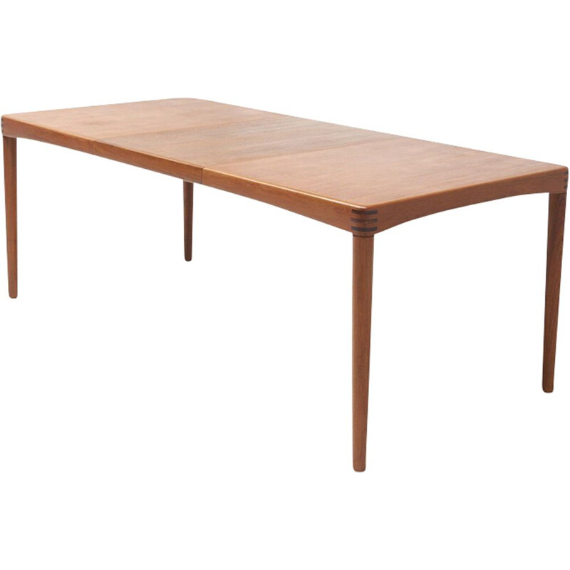 Vintage dining table in teak by  H.W. KLEIN for Bramin