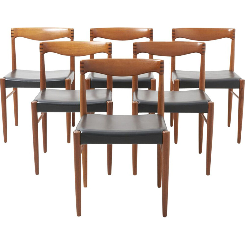 Vintage set of 6 dining chairs by H.W. KLein for Bramin 1960