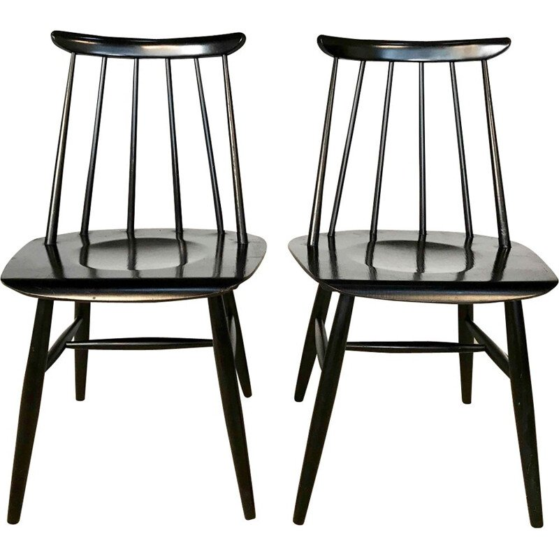Set of 2 vintage chairs Fanett by Ilmaari Tapiovaara for Asko, 1950s