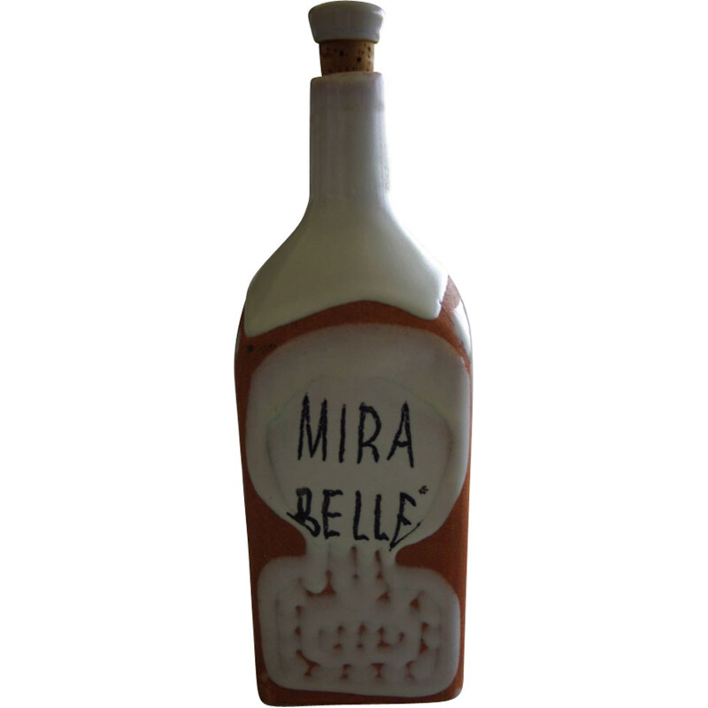 Vintage bottle Mirabelle by Roger Capron