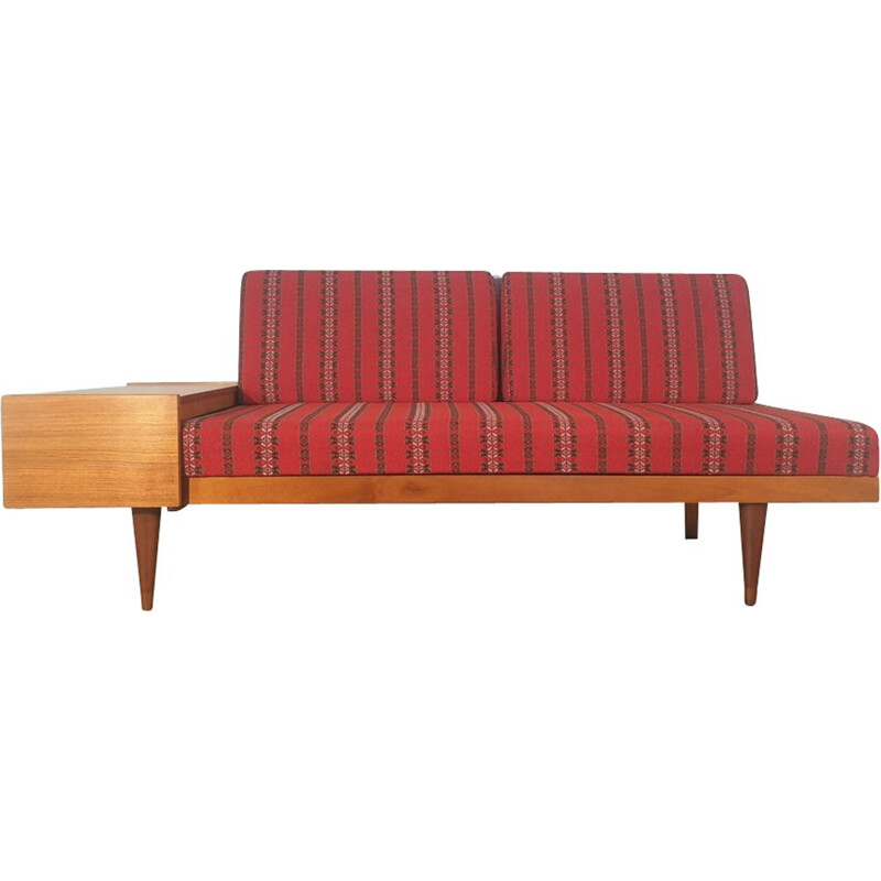Red vintage convertible sofa by Ingmar Relling for Ekornes 1960