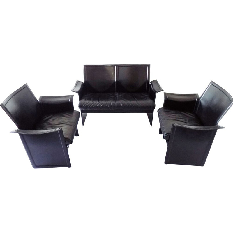 Set of 2 armchairs and a 2 seaters sofa by Matteo Grassi Korium