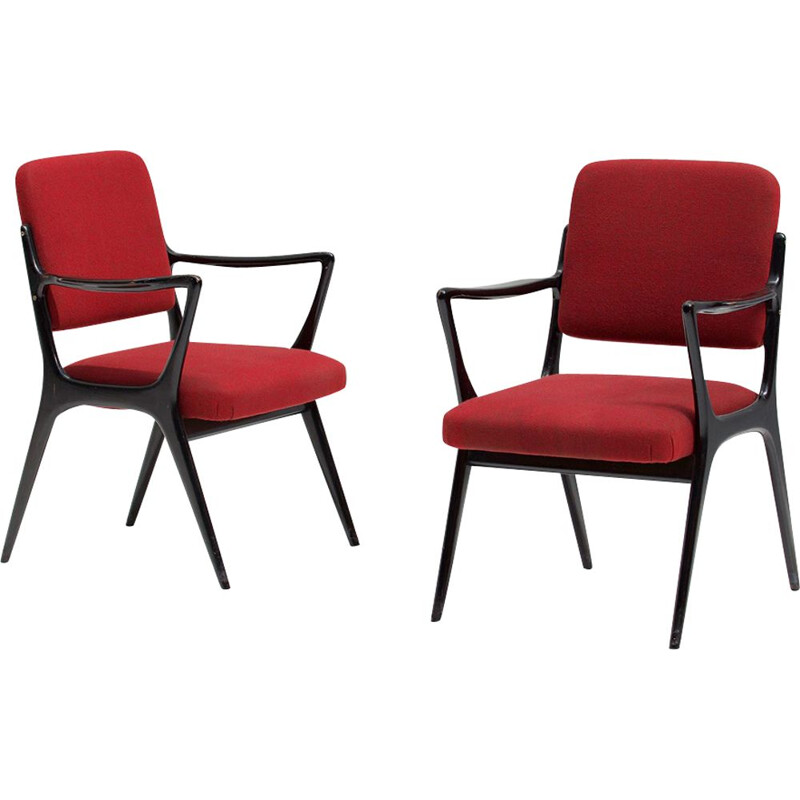 Pair of vintage armchairs by Alfred Hendrickx for Belform, 1950