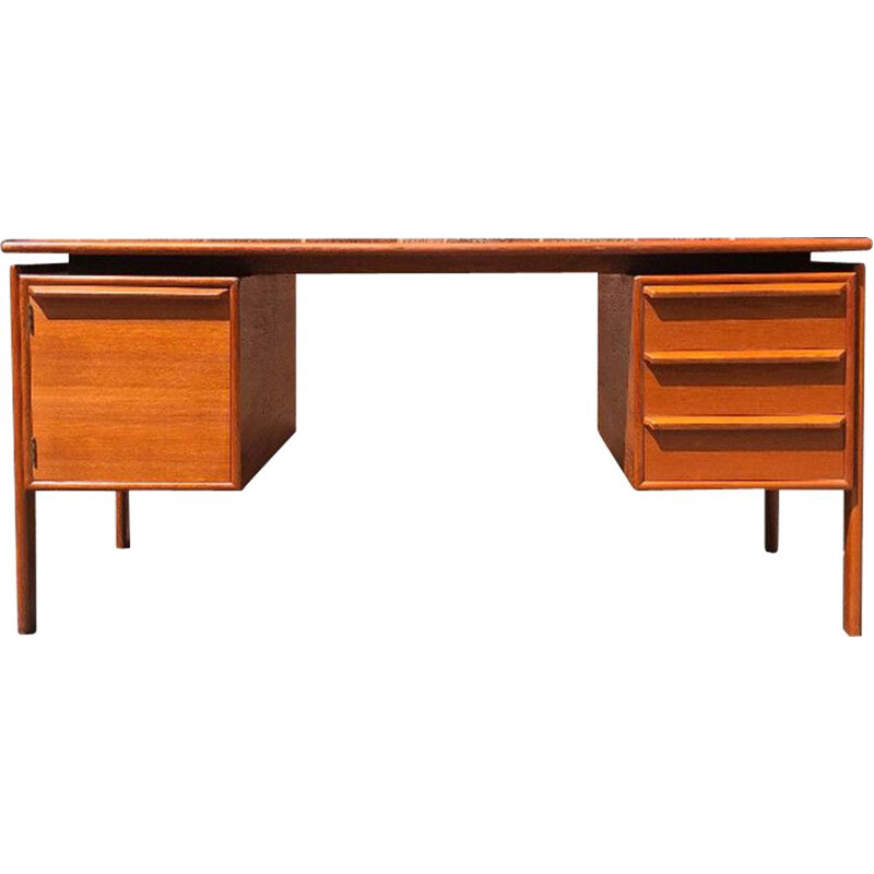 Vintage teak desk by GV Gasvig, 1960