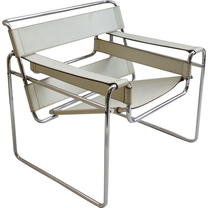 Vintage Wassily chair by Marcel Breuer for Gavina,Italy,1968