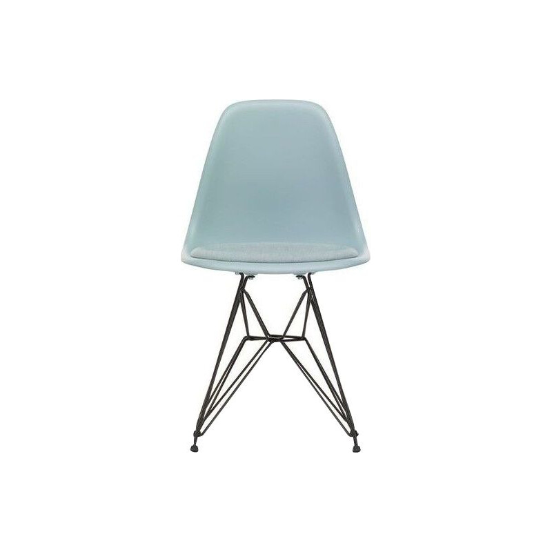 """Plastic Chair DSR"" with seat upholstery by Charles and Ray Eames for VITRA"